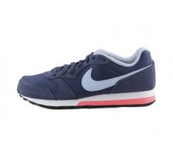 Deportiva azul con simbolo celeste con cordón Nike Runner