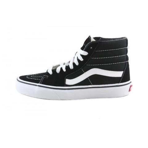 Bota ante negro raya blanca con cordón Vans SK8-HI