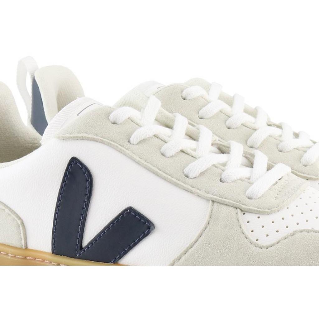 Deportiva con cordón blanco y azul Veja SmallV10