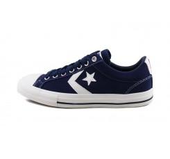 Zapatilla de ante azul y estrella blanca con cordón Converse
