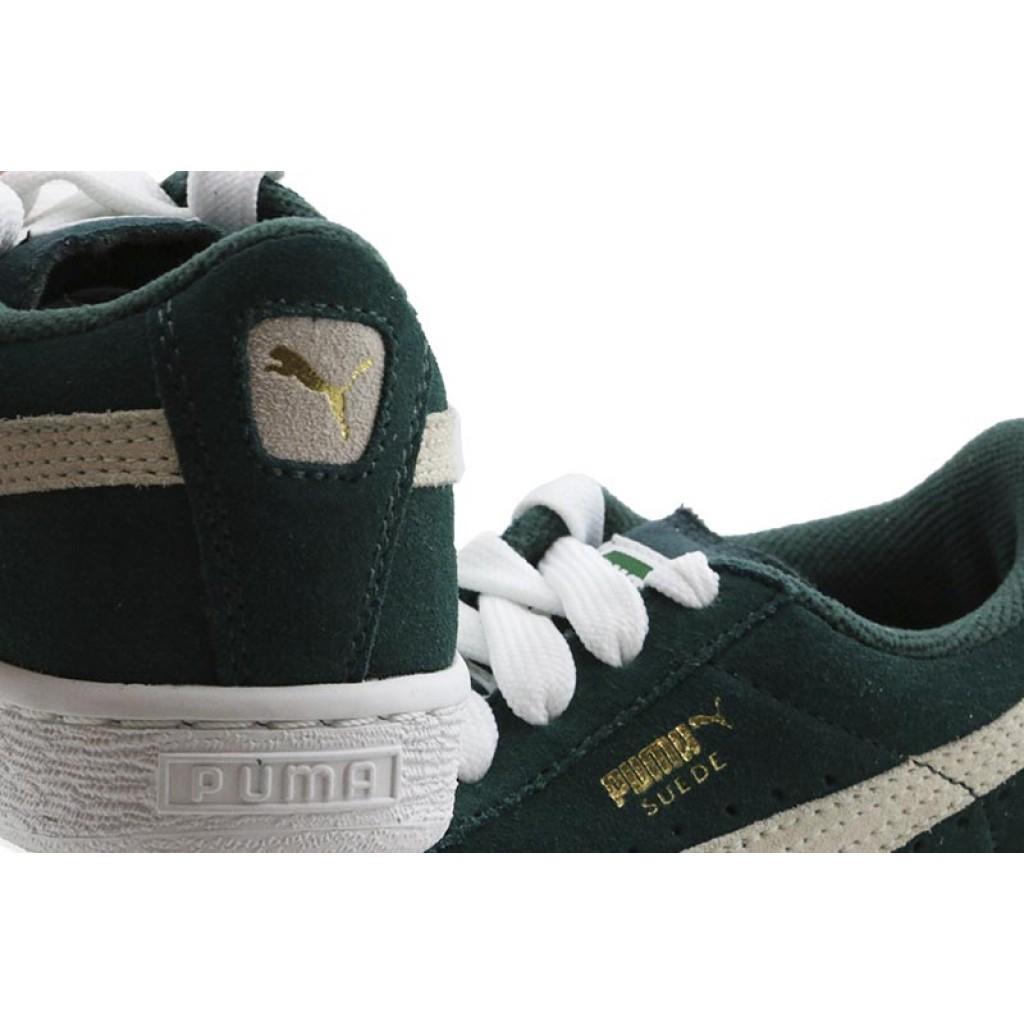 Zapatilla ante verde con cordón Suede Puma