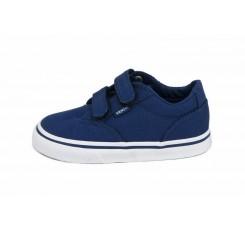 Zapatilla lona azulón con velcro Vans