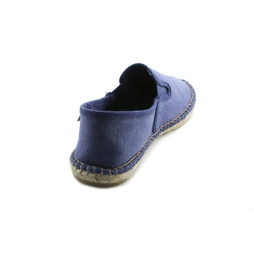 Alpargata lona azul con gomas La Cadena