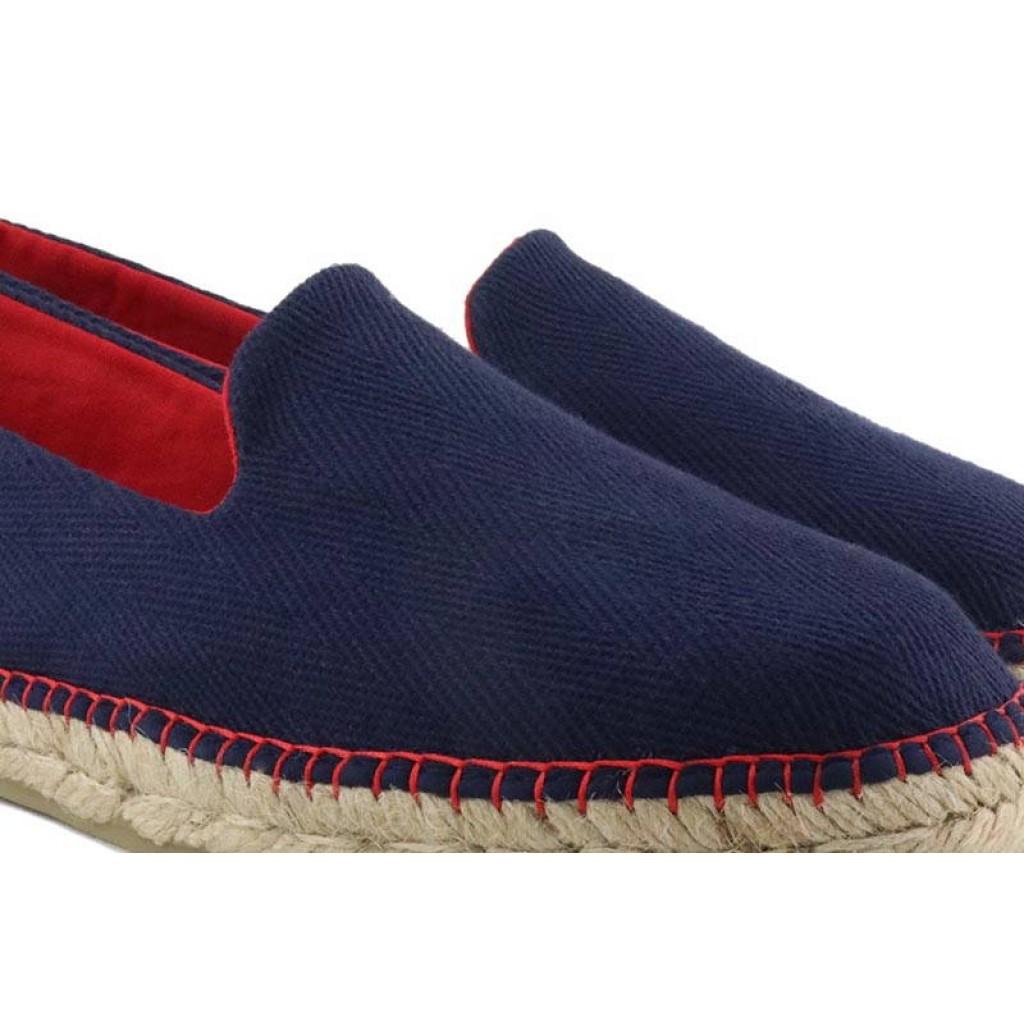 Alpargata azul con hilos rojos Norteñas