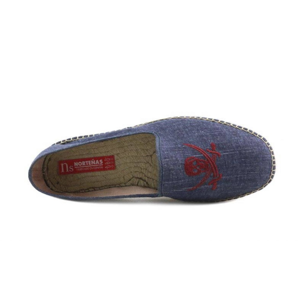 Alpargata calavera azul lavado Norteñas