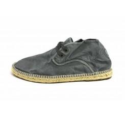 Alpargata bota gris lavado con cordón Natural World