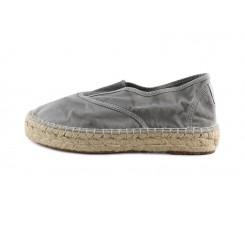 Alpargata con goma central y plataforma gris claro lavado Natural World