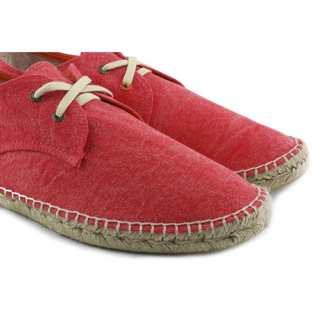 Alpargata lona rojo lavado Abarca