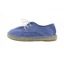 Alpargata azulón lavado con cordón Pepa y Cris
