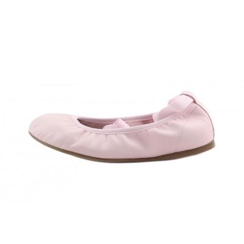 Bailarina piel rosa con cintas al tobillo Eli para Jeromin