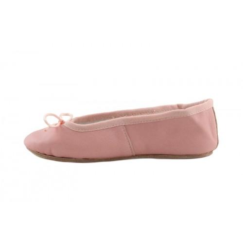 Zapatilla ballet piel rosa suela dura