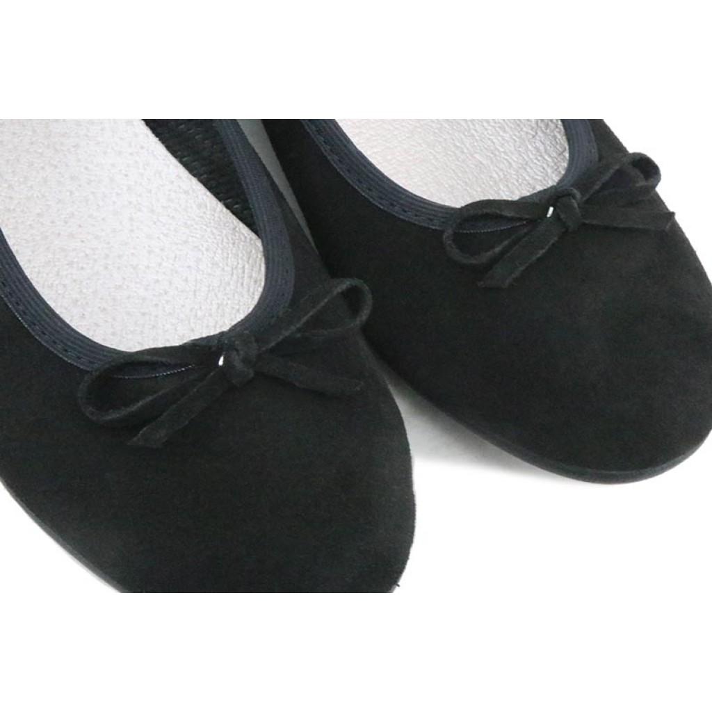 Bailarina lisa ante negro con lazo Vul-Ladi