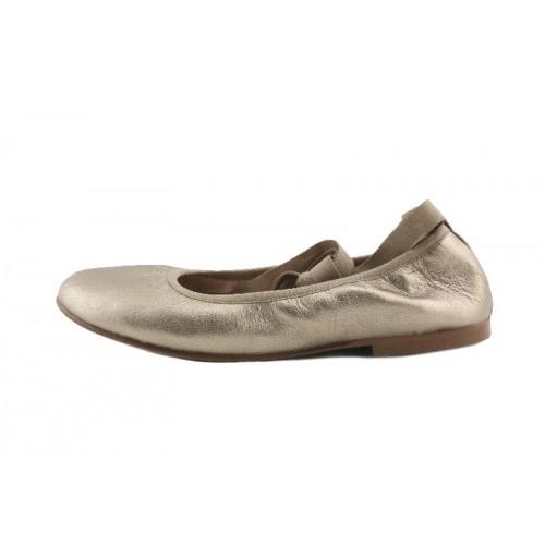 Bailarina piel bronce elástico y cintas Jeromin