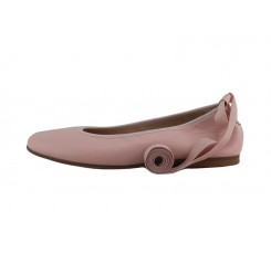 Bailarina piel rosa claro elástico y cintas Jeromin