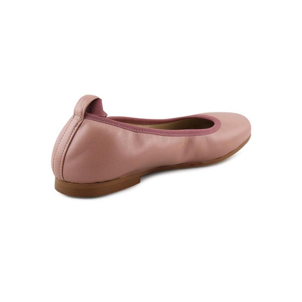 643424bb3c2 Bailarina piel rosa palo elástico y cintas Jeromin