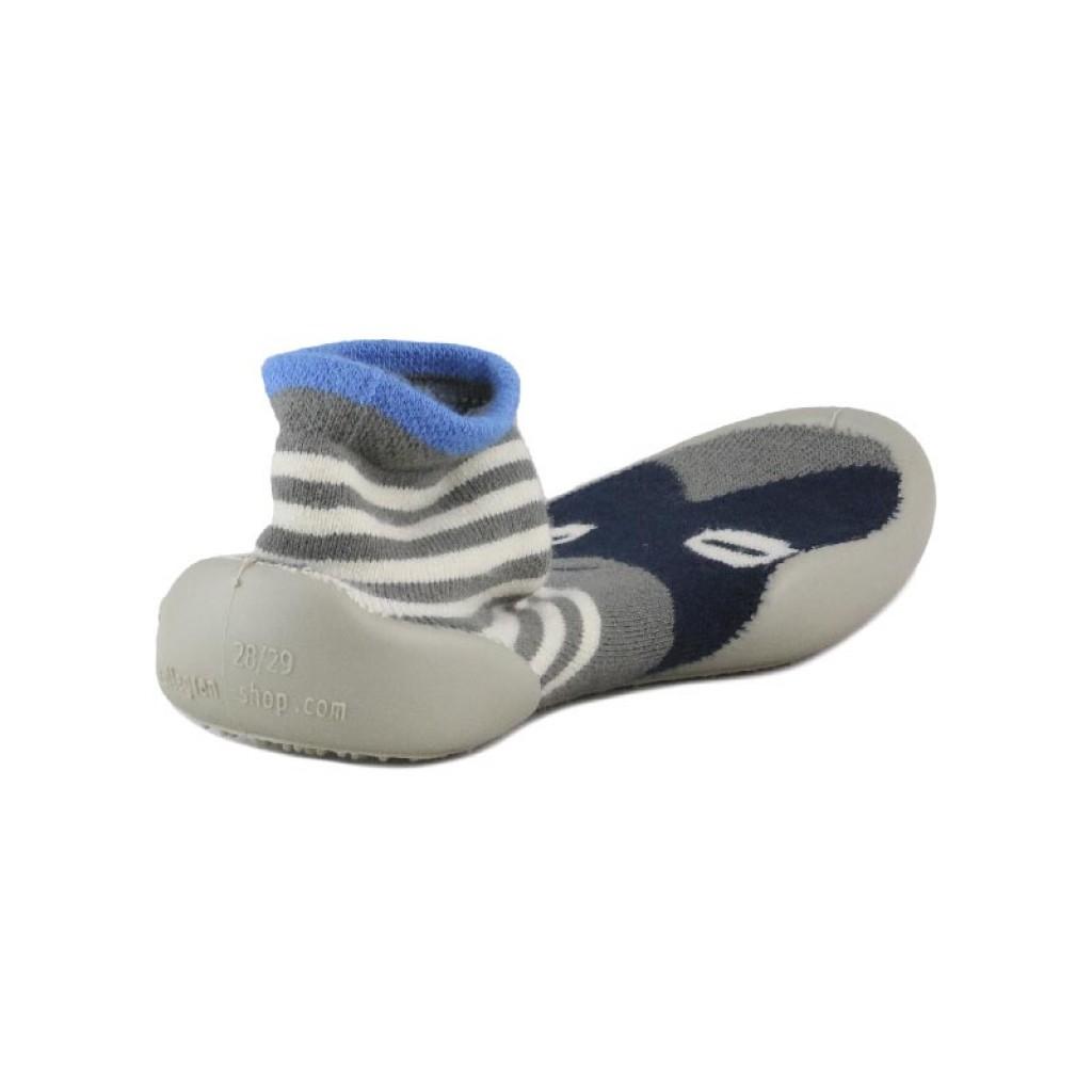 Zapatilla para casa calcetín antifaz azul Collegien