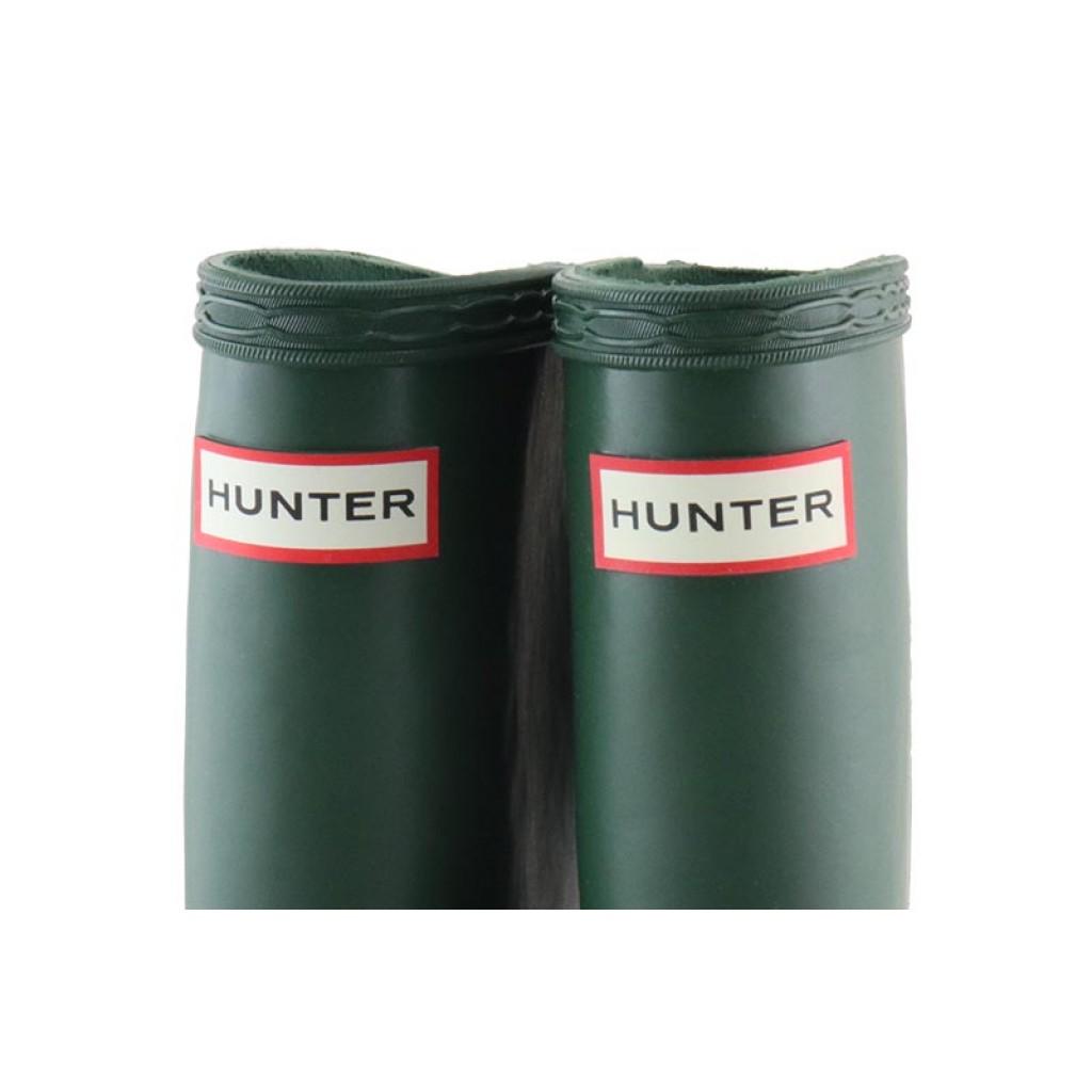 Bota de agua lisa verde Hunter