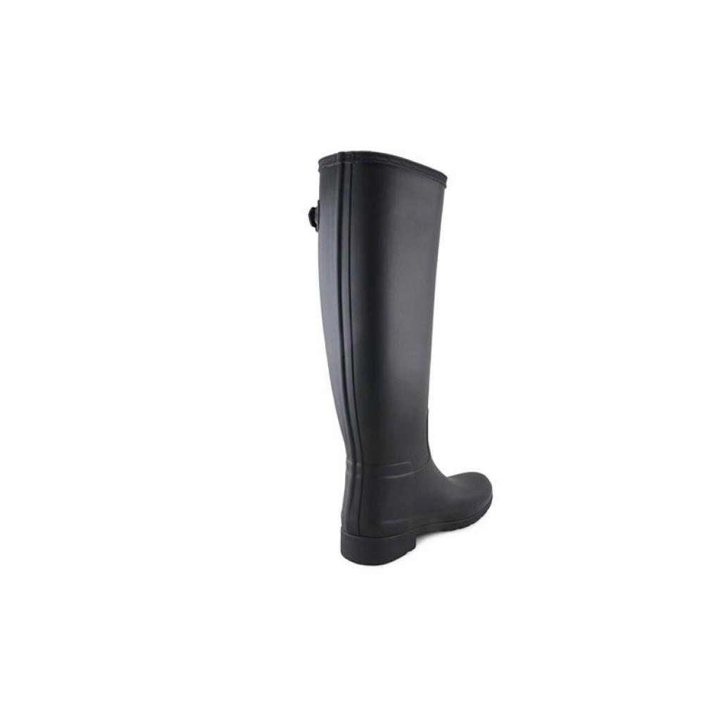 quality design 97d98 60e50 Bota de agua negra para mujer de caña alta mas ajustada Hunter Refined