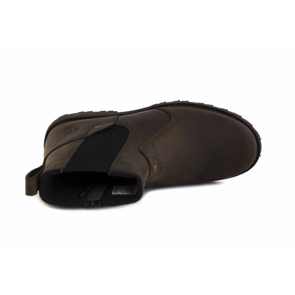 Bota de piel marrón con elásticos Timberland