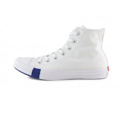 Bota de lona blanca con sellos Converse 166735C