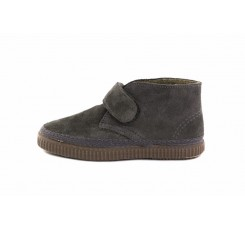 Bota ante gris con velcro Natural world