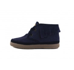 Bota ante azul con flecos Natural World