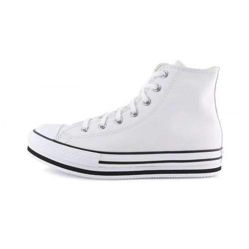 Bota de piel blanca junior con plataforma Converse