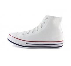Bota de lona blanca junior con plataforma Converse
