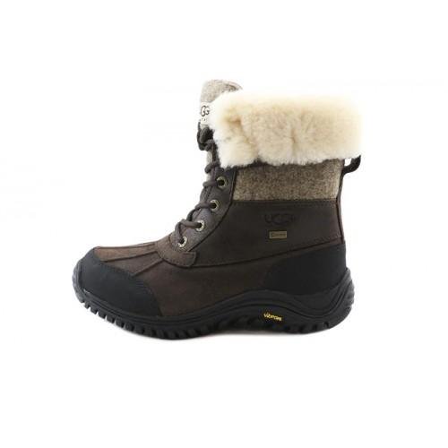 Bota piel marrón con cordon para nieve UGG