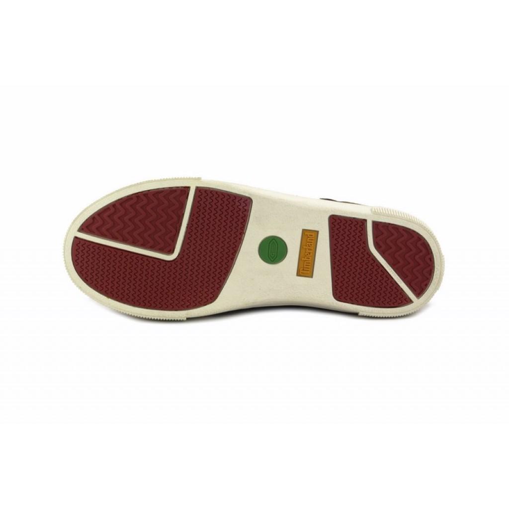 Bota deportiva piel marrón cordón y cremallera Timberland