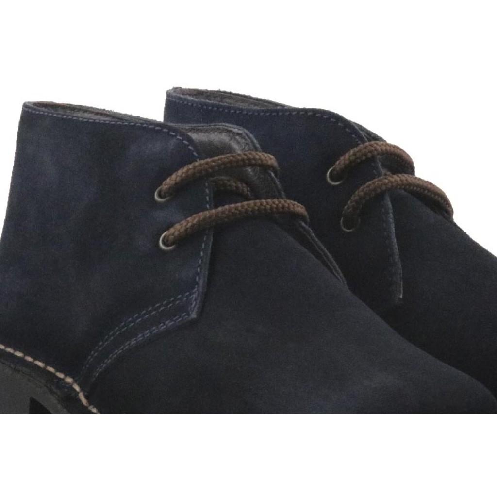 Bota ante azul con cordón Comando Jeromin