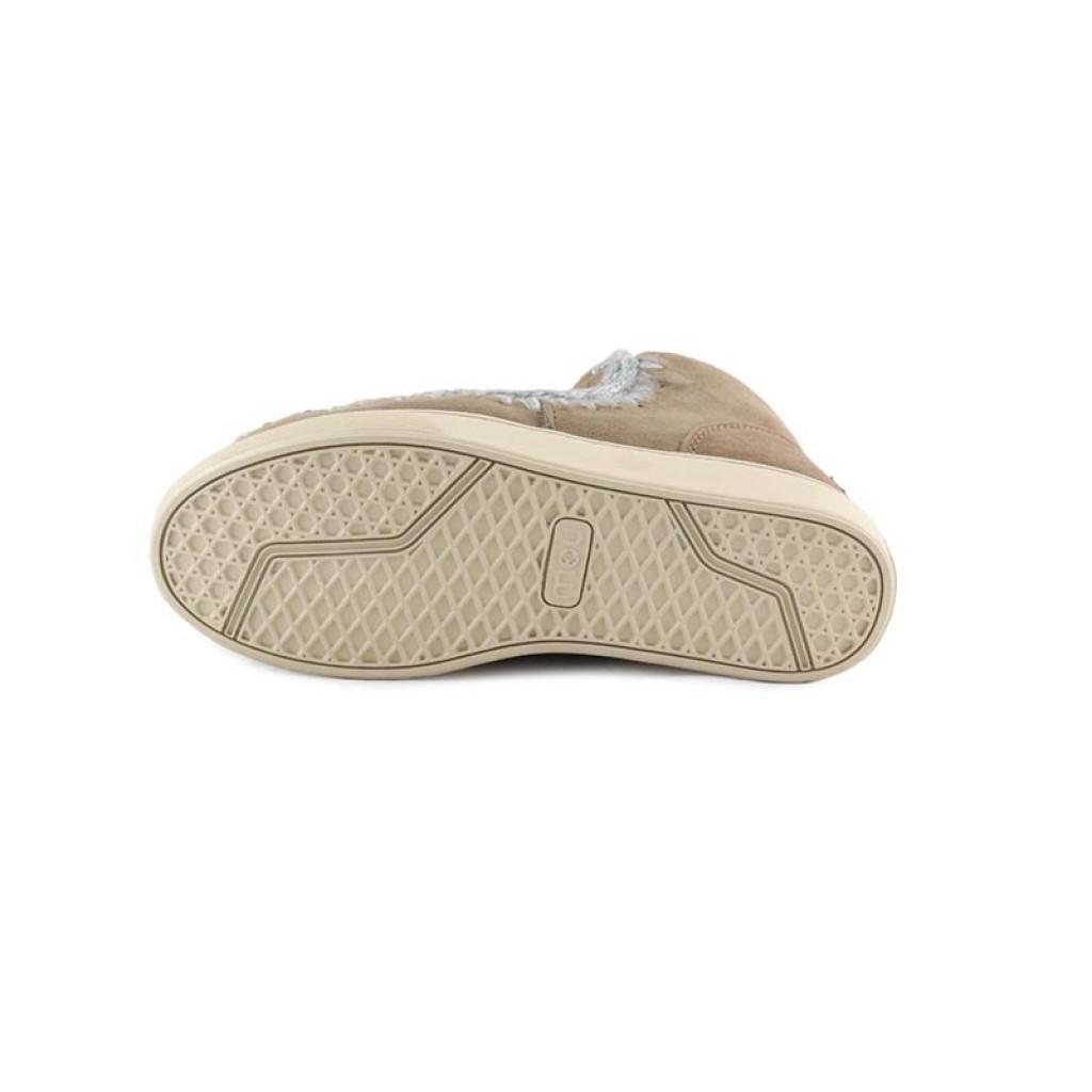 Bota corta forrada color taupe y costura gris claro Mou