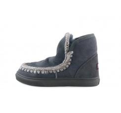 Bota corta forrada color gris azulado y costuras gris claro Mou