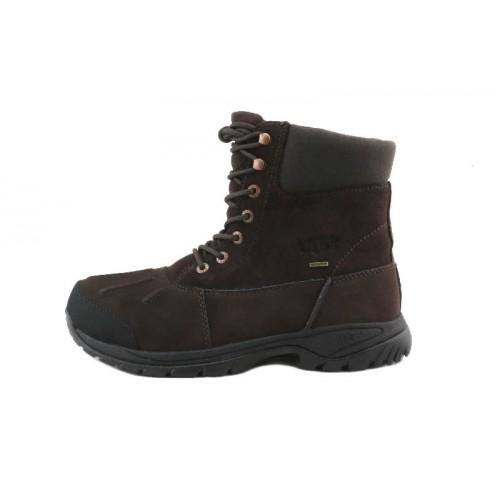 Bota en piel marrón con cordón para nieve UGG