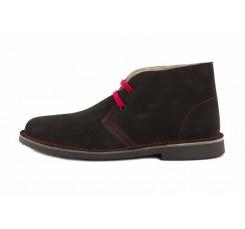 Bota pisa kk ante marrón con cordón rojo Jeromín