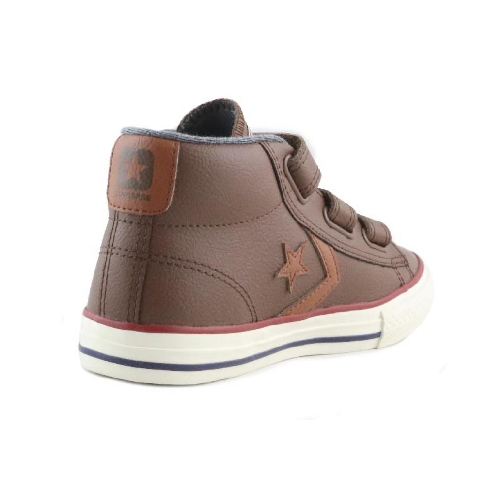 854e861165665 Bota piel marrón claro con velcro Converse