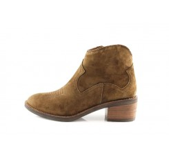 Botin cowboy bordado marrón claro Alpe 4445