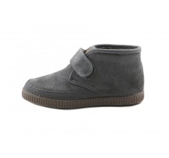 Bota ante gris con velcro forrada Natural World