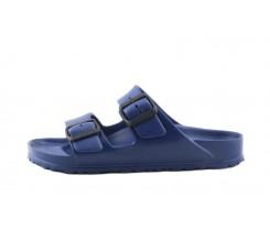 Sandalia agua azul con dos tiras y hebillas Birkenstock
