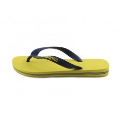 Chancla dedo amarillo/azul con bandera Brasil Havaiana
