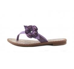 Chancla de dedo lila con flor Ipanema