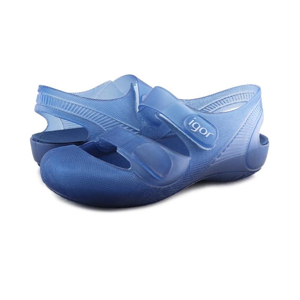 Cangrejera azul con velcro Igor