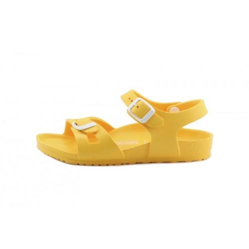 Sandalia amarilla dos tiras con hebillas Birkenstock