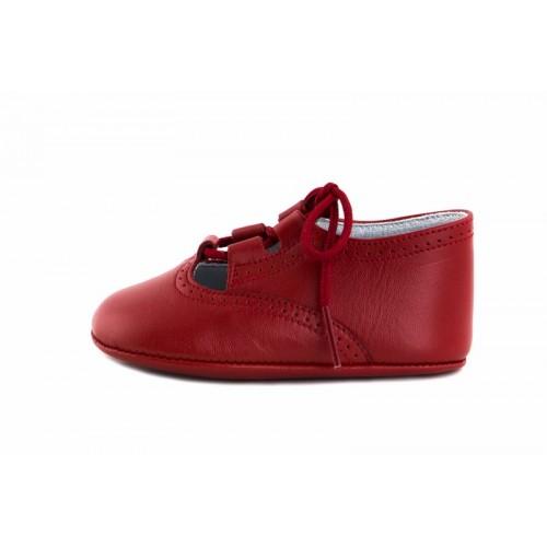 Zapatito de cuna piel rojo Jeromín
