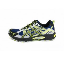 Deportiva trail running azul y amarilla Asics