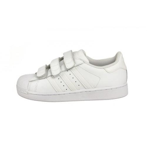 Zapatilla blanca SuperStar con velcro Adidas