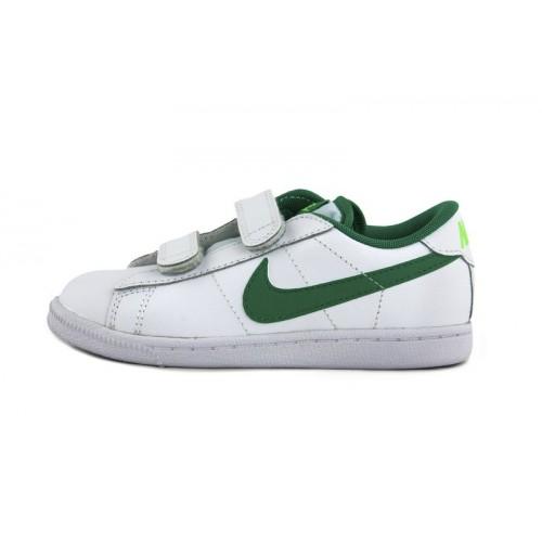 Deportiva piel blanca símbolo verde con velcro Nike Tennis