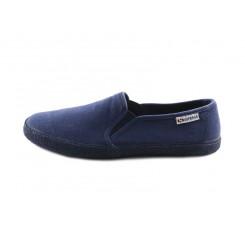 Zapatilla de lona azul con elásticos Superga