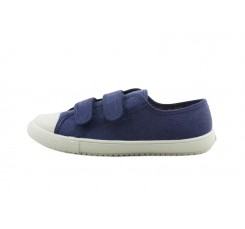 Zapatilla de lona azul con velcro Vul-Ladi
