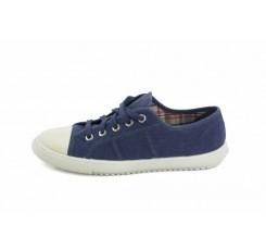 Zapatilla de lona azul con cordón Vul-Ladi
